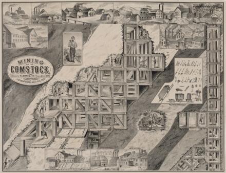Comstock Mining 1800s