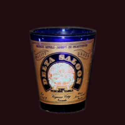 Delta Saloon Blue Shot Glass