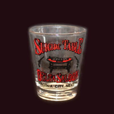 Delta Saloon Suicide Table Shot Glass