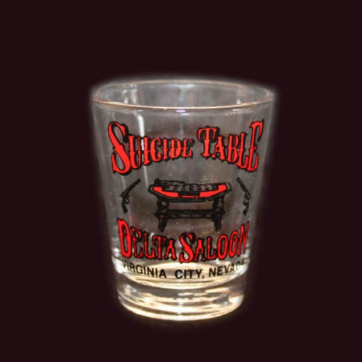 Delta Saloon Suicide Table Shot Glass
